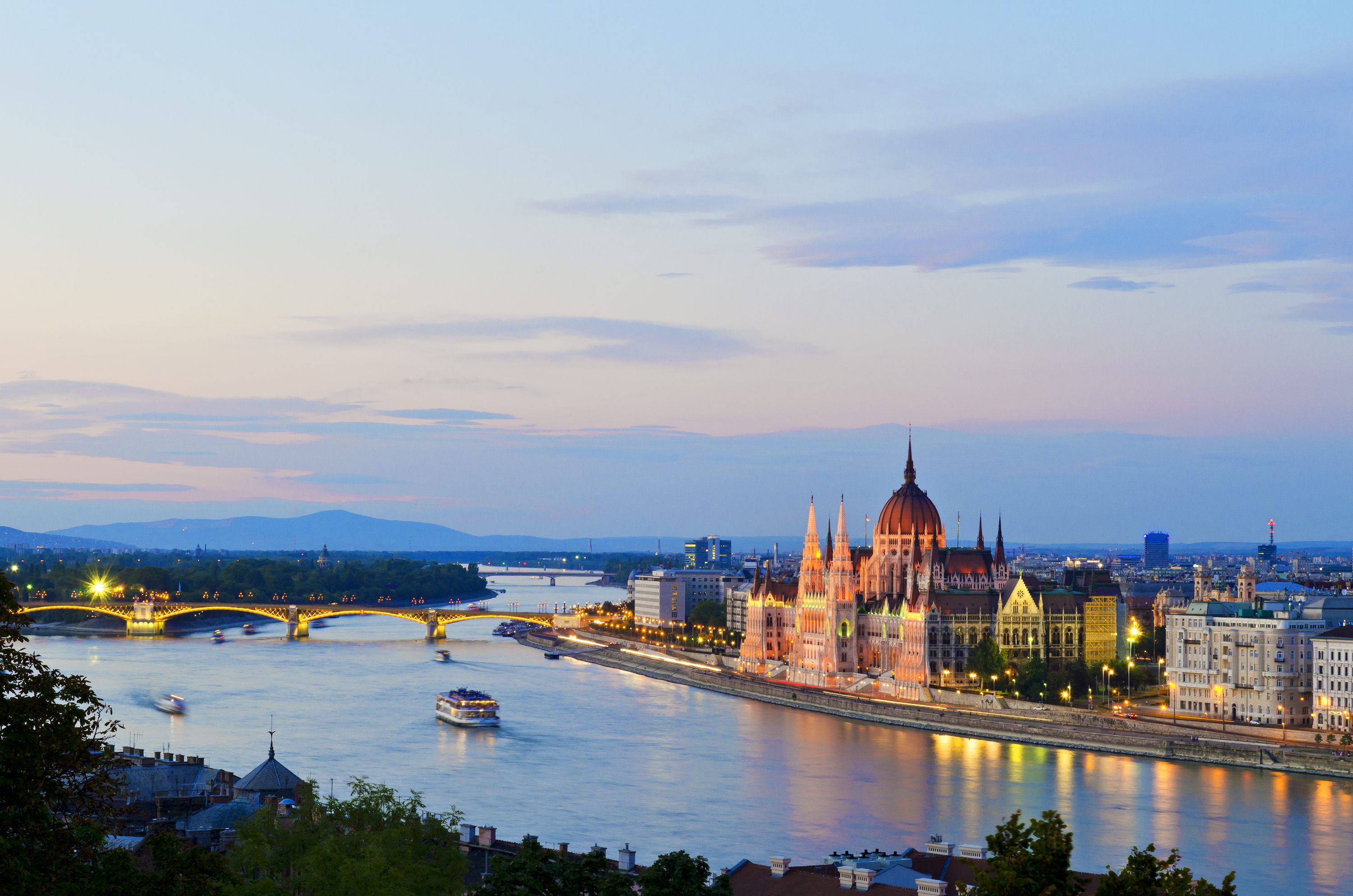 Hungarian Parliament building and Danube